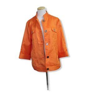 🎀 3/$30 Tanjay Plus Size Orange Blazer